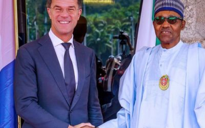 The Prime Minister of Netherlands visits President Muhammadu Buhari of Nigeria