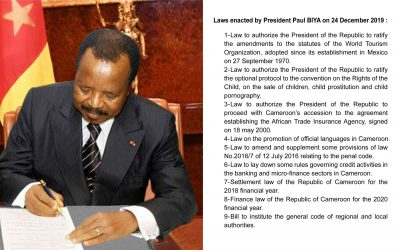 Cameroon: Paul Biya's Christmas gifts for Anglophones is the enactment of controversial laws