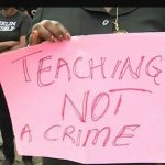 Teachers in Cameroon protesting against growing students' violence
