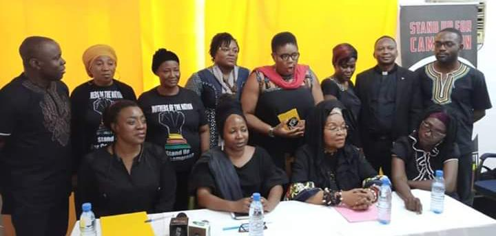 Women announce a black Women's day.