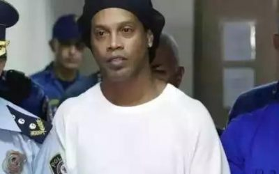 Football Legend-Ronaldinho in prison: The Brazilian soccer legend and his brother are in pretrial detention.